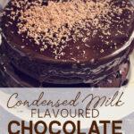 Condensed Milk Flavoured Chocolate Cake