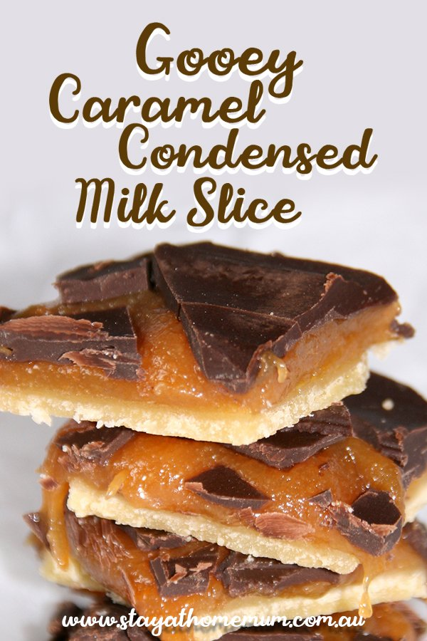Gooey Caramel Condensed Milk Slice