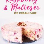 Raspberry and Malteser Ice Cream Cake