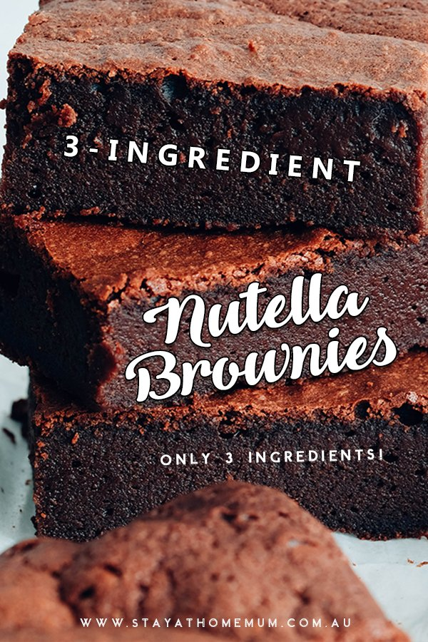 3-Ingredient Nutella Brownies - Only 3 Ingredients!