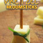 Halloween Pretzel Broomsticks