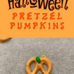 Halloween Pretzel Pumpkins