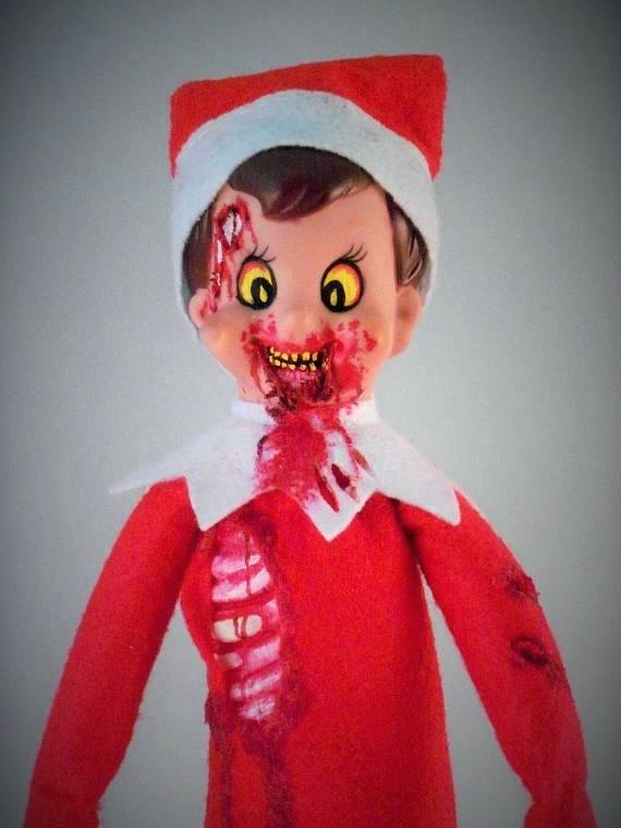 elf on the shelf baby costume has many zombie variations on childhood characters which we urge you to check out elf on the shelf halloween costume baby elf on shelf child costume | Stay at Home Mum.com.au