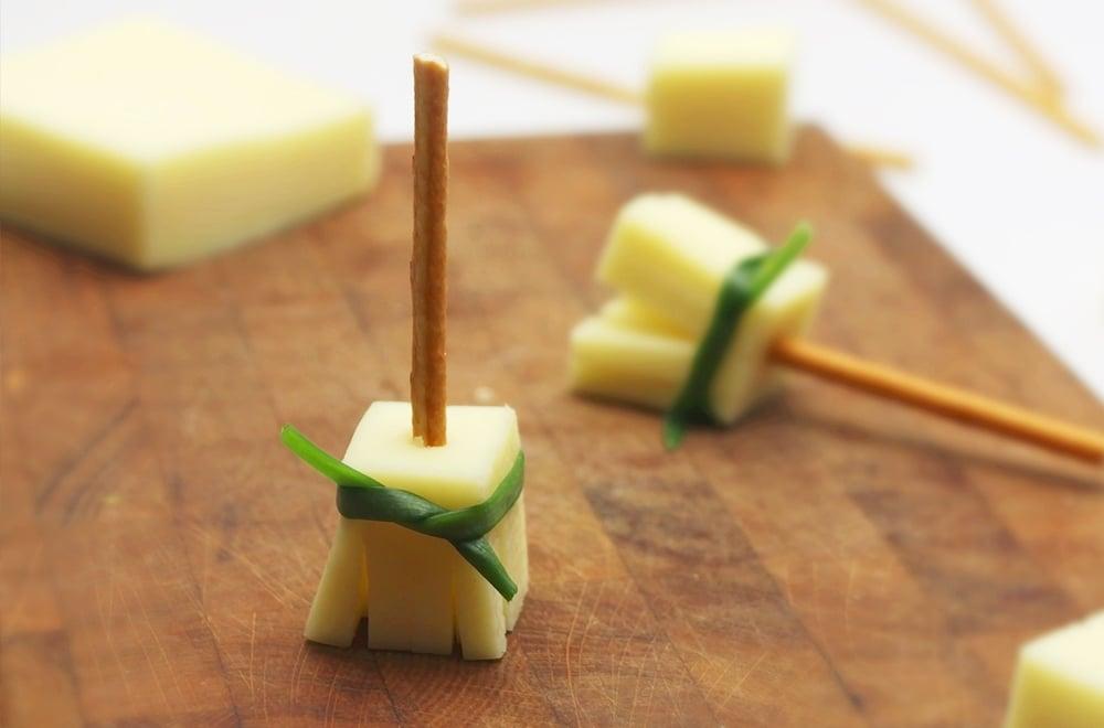 Halloween Pretzel Broomsticks (Just 3 Ingredients!)