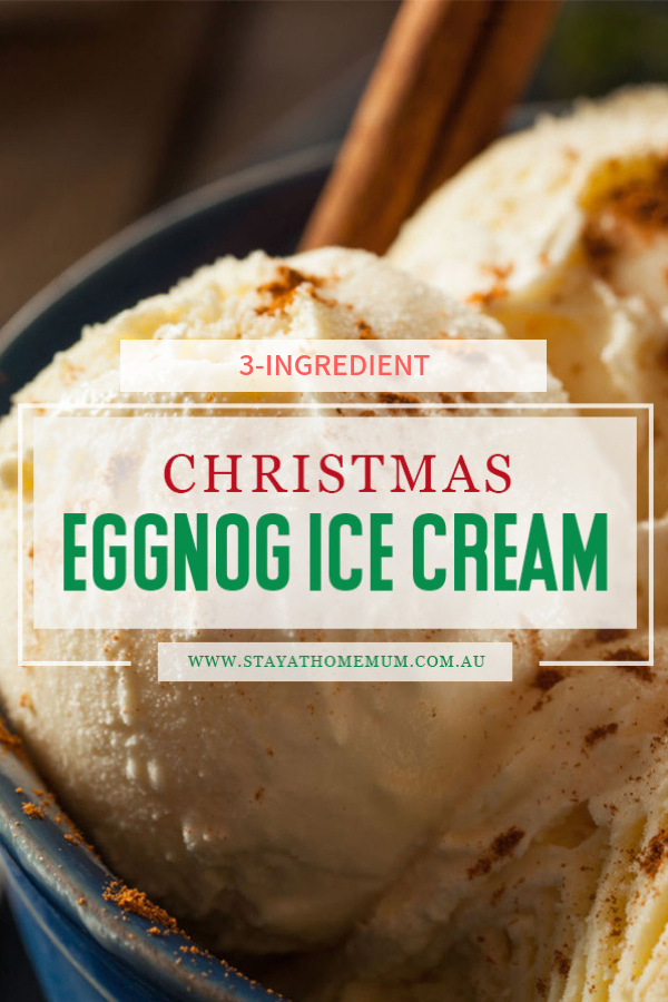 3-Ingredient Christmas Eggnog Ice Cream