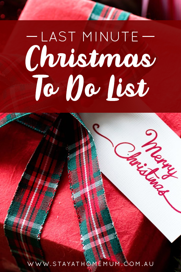 Last Minute Christmas To Do List