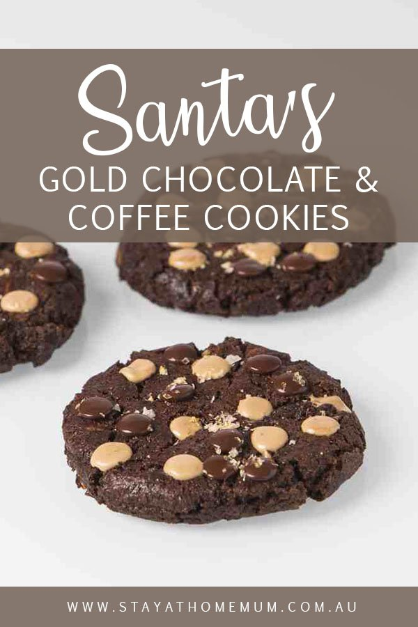 Santa's Gold Chocolate and Coffee Cookies