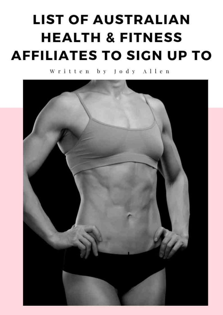 List of Australian Health and Fitness Affiliates To Sign Up To | Stay at Home Mum