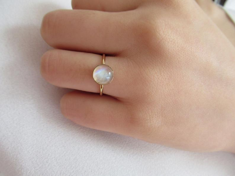 14K Moonstone Ring | Stay At Home Mum