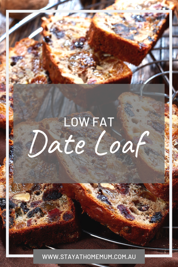 low fat date loaf | Stay at Home Mum.com.au
