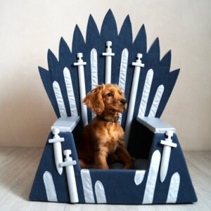 """This Etsy Shop Is Selling """"˜GoT' Iron Throne Dog Beds for Your Beloved Direwolves"""