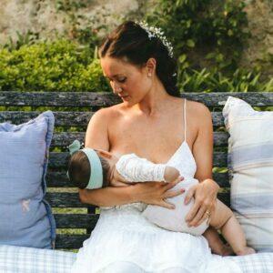 20 Blushing Brides Breastfeeding Their Babies