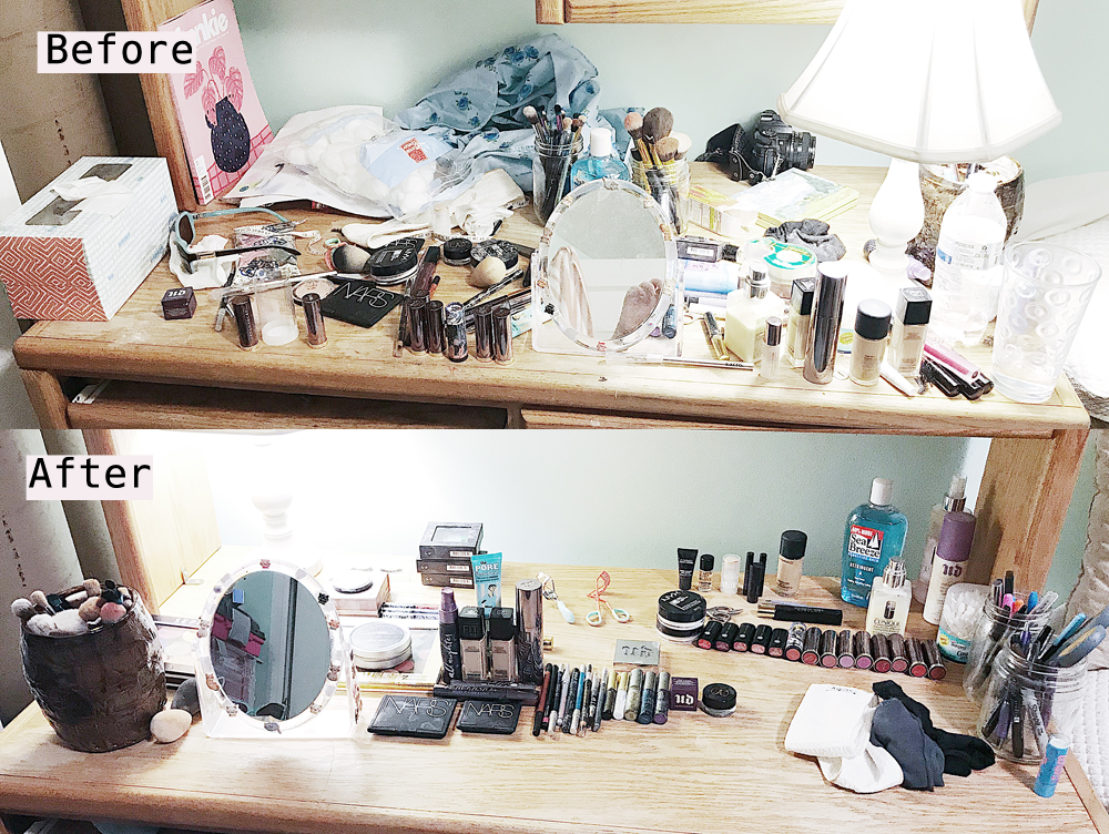Photos of Messy Rooms Before and After Cleaning