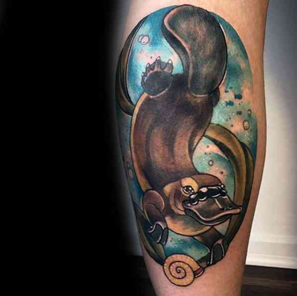 50 platypus tattoo designs for men animal ink ideas 21 | Stay at Home Mum.com.au
