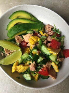 This image has an empty alt attribute; its file name is quick-tuna-salad.jpg