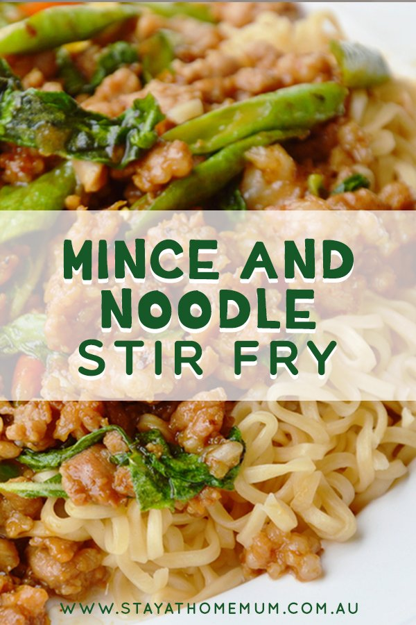Mince and Noodle Stir Fry | Stay at Home Mum.com.au