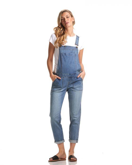 alice denim overalls soon maternity light wash 1 | Stay at Home Mum.com.au
