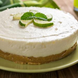 Raw No Bake Lime Cheesecake
