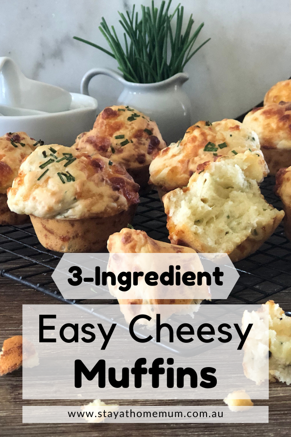 3-Ingredient Easy Cheesy Muffins | Stay at Home Mum