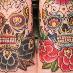 Red And Black Roses Sugar Skulls Day Of The Dead Tattoo 1 | Stay at Home Mum.com.au
