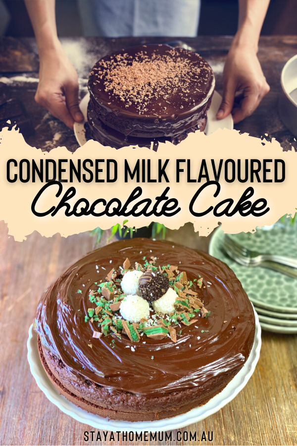 Condensed Milk Flavoured Chocolate Cake | Stay At Home Mum