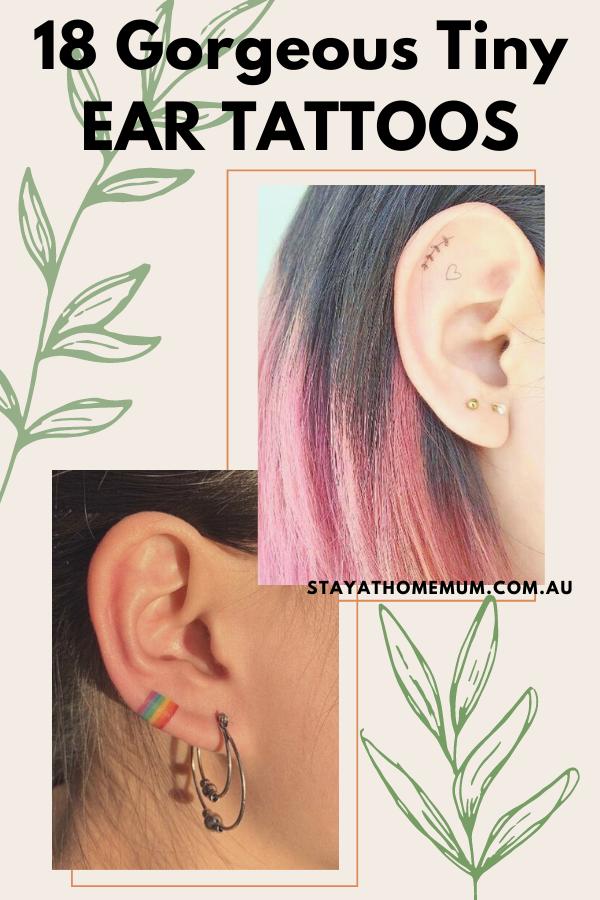 18 Gorgeous Tiny Ear Tattoos   Stay at Home Mum.com.au