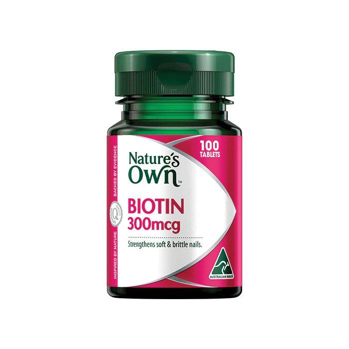 nature s own biotin 300mcg tab x 100 | Stay at Home Mum.com.au