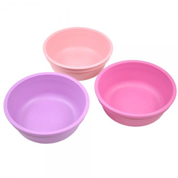 re play bowl 3 set purple pink dk pink   Stay at Home Mum.com.au
