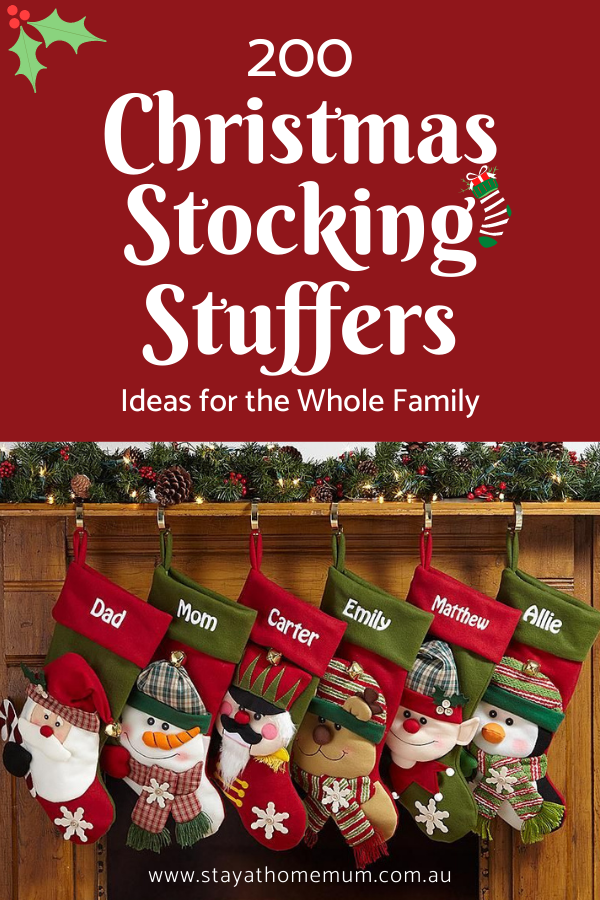 200 Christmas Stocking Stuffers Ideas for the Whole Family | Stay at Home Mum