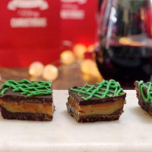 Double Chocolate Caramel Christmas Slice