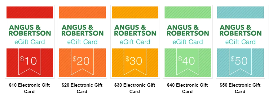 Gift Card for Angus & Robertson Book Store | Stay at Home Mum