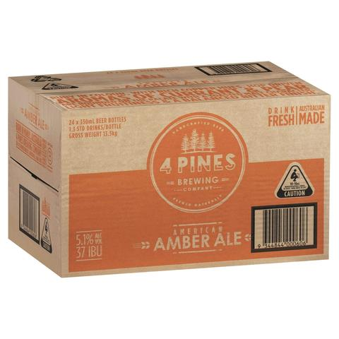 4 pines american amber beer case bottles 9344844000606 beer hellodrinks online liquor marketplace pay later booze 18644929151138 large | Stay at Home Mum.com.au