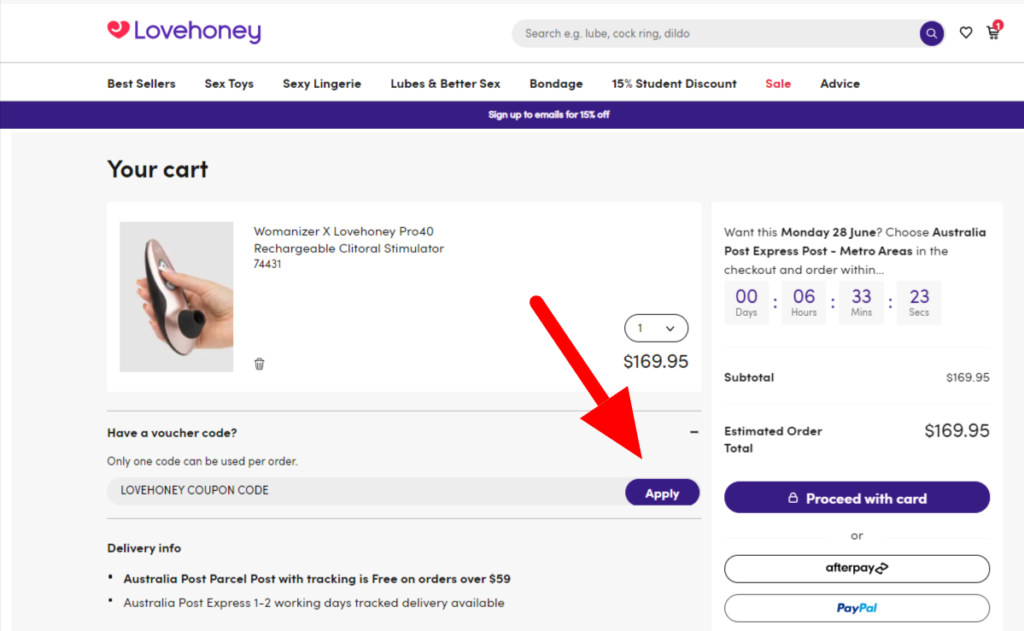 Your Cart Lovehoney 1   Stay at Home Mum.com.au