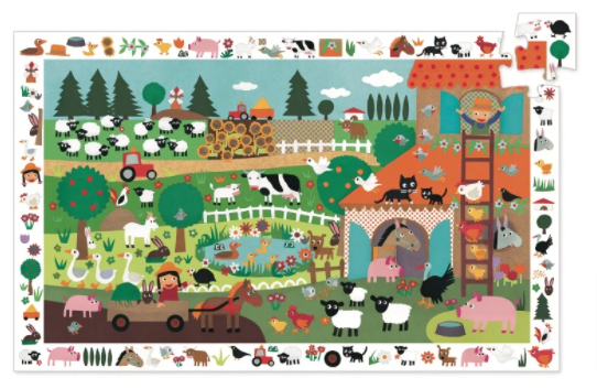 Djeco The Farm Observation Puzzle 35pc Entropy Toys | Stay at Home Mum.com.au