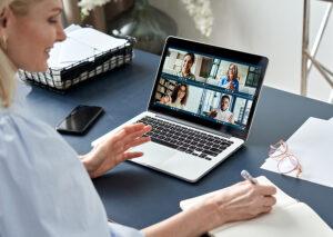bigstock Business Woman Having Virtual 409229044 | Stay at Home Mum.com.au