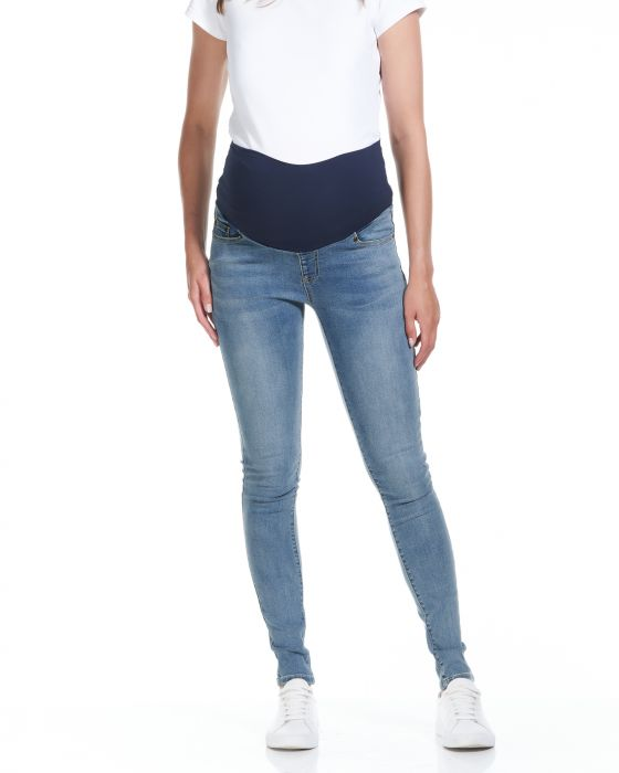 overbelly skinny denim pants soon maternity jeans blue wash 1 | Stay at Home Mum.com.au